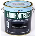 Hermadix hardhoutbeits zwart transparant - 2,5 liter