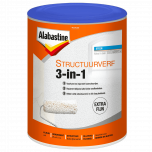 Alabastine structuurverf 3 in 1 wit - 5 liter