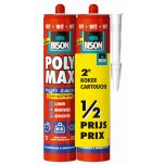Bison polymax high tack express wit duoverpakking