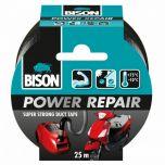 Bison power repair tape zwart - 25 meter