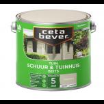 Cetabever schuur & tuinhuis beits dekkend zijdeglans antraciet - 2,5 liter