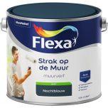 Flexa strak op de muur watergedragen mat nachtblauw - 2,5 liter