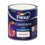 Flexa creations lak zijdeglans morning snow - 250 ml.