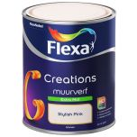 Flexa creations muurverf extra mat stylish pink 3002 - 1 liter.