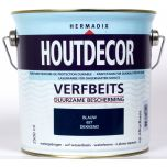 Hermadix houtdecor verfbeits blauw - 2,5 liter