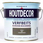 Hermadix houtdecor verfbeits transparant grijs - 2,5 liter