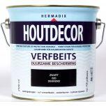 Hermadix houtdecor verfbeits zwart - 2,5 liter
