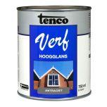 Tenco verf hoogglans antraciet (RAL 7016) - 750 ml