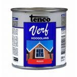 Tenco verf hoogglans rood - 250 ml
