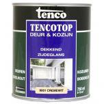 Tenco tencotop houtbescherming dekkend zijdeglans RAL 9001 / cremewit (11) - 750 ml.