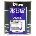Tenco tencotop houtbescherming dekkend zijdeglans wit (64) - 750 ml.