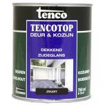 Tenco tencotop houtbescherming dekkend zijdeglans zwart (39) - 750 ml.