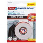 Tesa powerbond ultra strong dubbelzijdige montagetape - 1,5 m x 19 mm.