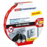 Tesa powerbond ultra strong dubbelzijdige montagetape - 5 m x 19 mm.