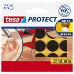 Tesa protect vilt bruin 18 mm. - 16 stuks