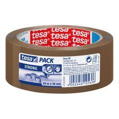 Tesa tesapack strong verpakkingstape bruin - 66 m x 38 mm
