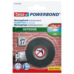 Tesa powerbond outdoor dubbelzijdige montagetape - 1,5 m x 19 mm