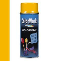 Motip Colorspray hoogglanslak RAL 1021 koolzaadgeel - 400 ml.