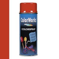 Motip Colorspray hoogglanslak RAL 2002 vermiljoen - 400 ml.