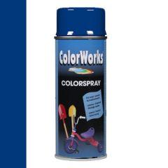 Motip Colorspray hoogglanslak RAL 5002 ultramarijnblauw - 400 ml.