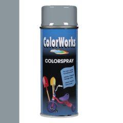 Motip Colorspray hoogglanslak RAL 7001 zilvergrijs - 400 ml.