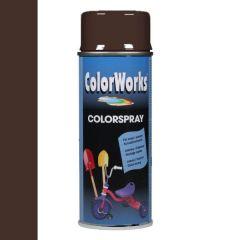 Motip Colorspray hoogglanslak RAL 8017 chocolade bruin - 400 ml.