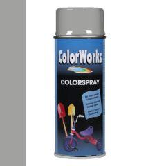 Motip Colorspray hoogglanslak RAL 9006 blank aluminiumkleurig - 400 ml.