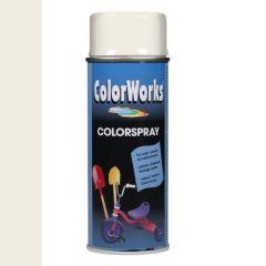 Motip Colorspray hoogglanslak RAL 9010 zuiver wit - 400 ml.