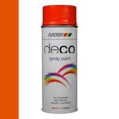 Motip deco alkyd hoogglans lak RAL 2004 oranje - 400 ml.