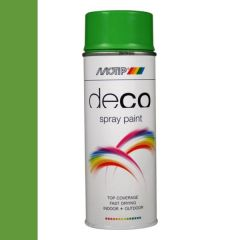 Motip deco alkyd hoogglans lak RAL 6018 geelgroen - 400 ml.