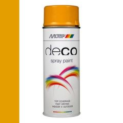 Motip deco alkyd hoogglans lak RAL 1004 goudgeel - 400 ml.