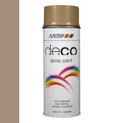 Motip deco alkyd hoogglans lak RAL 1019 grijs/beige - 400 ml.