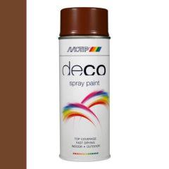 Motip deco alkyd hoogglans lak RAL 8007 ree bruin - 400 ml.