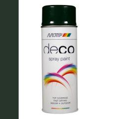 Motip deco alkyd hoogglans lak RAL 6009 dennen groen - 400 ml.