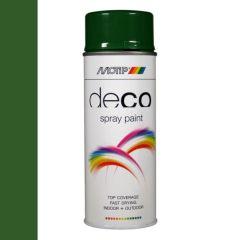 Motip deco alkyd hoogglans lak RAL 6002 bladgroen - 400 ml.