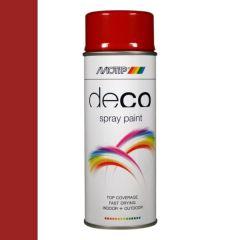 Motip deco alkyd hoogglans lak RAL 3002 karmijnrood - 400 ml.