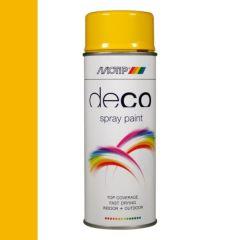 Motip deco alkyd hoogglans lak RAL 1021 koolzaad geel - 400 ml.