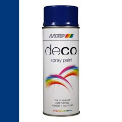 Motip deco alkyd hoogglans lak RAL 5002 ultramarijn blauw - 400 ml.