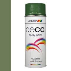 Motip deco alkyd hoogglans lak RAL 6011 reseda groen - 400 ml.