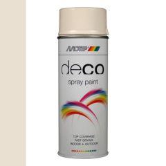 Motip deco alkyd hoogglans lak RAL 9001 cremewit - 400 ml.
