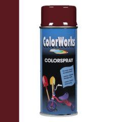 Motip Colorspray hoogglanslak RAL 3005 wijnrood - 400 ml.