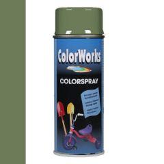 Motip Colorspray hoogglanslak RAL 6011 reseda groen - 400 ml.