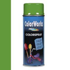 Motip Colorspray hoogglanslak RAL 6018 geelgroen - 400 ml.