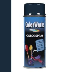 Motip Colorspray hoogglanslak RAL 5011 staalblauw - 400 ml.