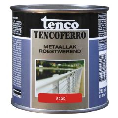 Tenco ferro roestwerende ijzerverf rood - 250 ml.
