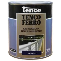 Tenco ferro roestwerende ijzerverf antraciet - 750 ml.