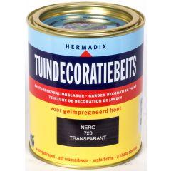 Hermadix tuindecoratiebeits nero zwart - 750 ml.