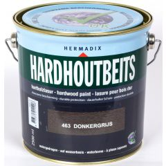 Hermadix hardhoutbeits donkergrijs - 2,5 liter