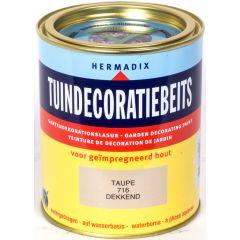 Hermadix tuindecoratiebeits dekkend taupe - 750 ml.