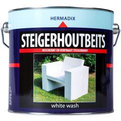 Hermadix steigerhoutbeits white wash - 2,5 liter